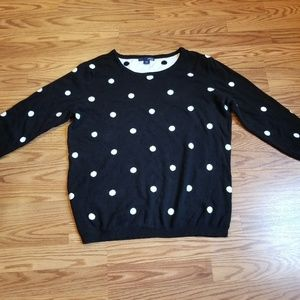 Women's Basic Editions polka dot sweater